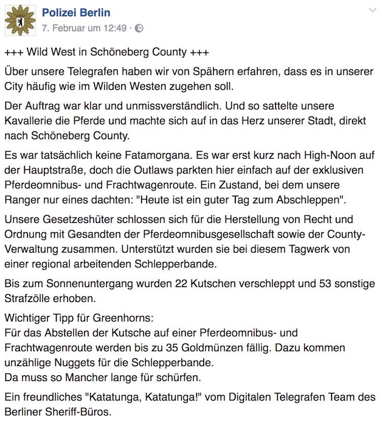 Wilder Westen in Schöneberg Country