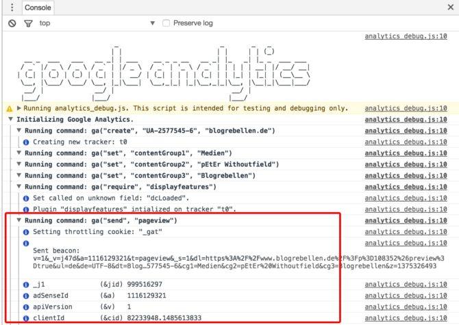 Google Analytics ohne opt-out trackt Nutzerdaten