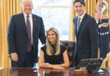 Ivanka Trump mit Daddy und Justin Trudeau