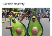 Karneval Avocado-Kostüm