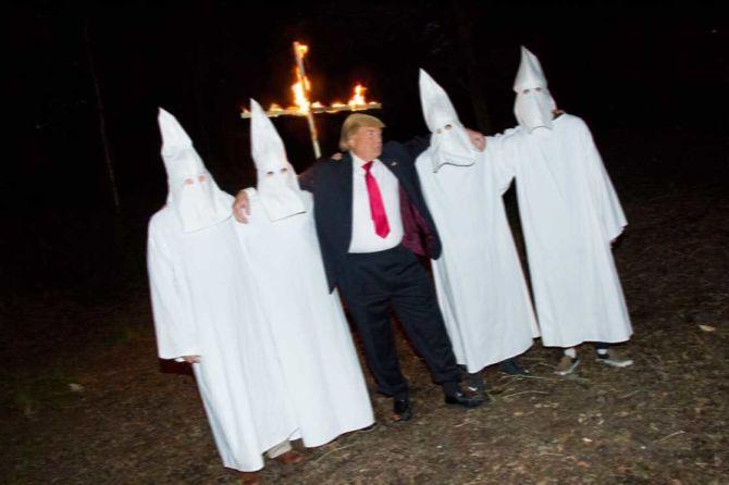 Donald Trump und seine Homies vom Ku-Klux-Klan