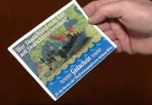 Ausreise-Gutschein einer rechtsradikalen Partei in Olpe