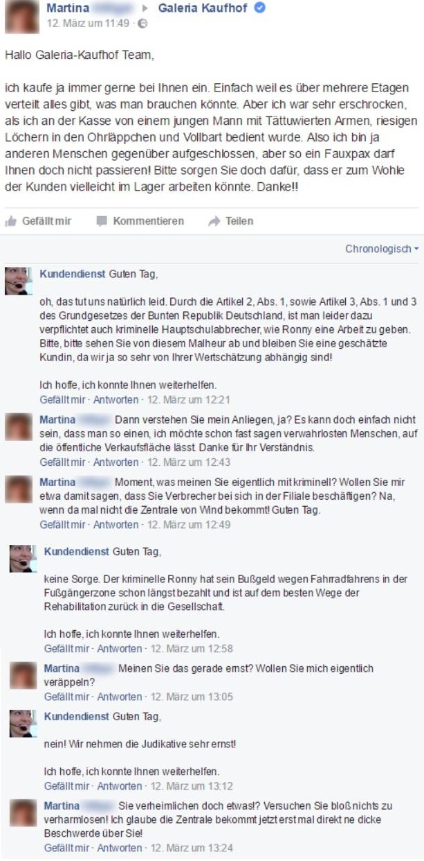 Facebook kundendienst fake