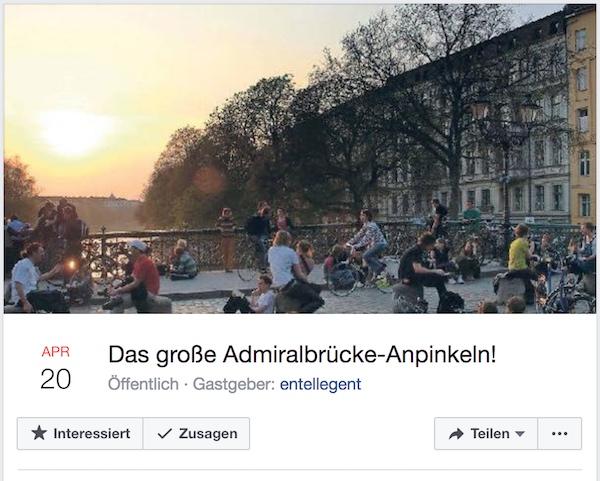 "Screenshot ""Das große Admiralbrücke-Anpinkeln"""