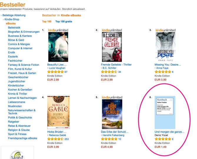 E-Book Bestseller Amazon