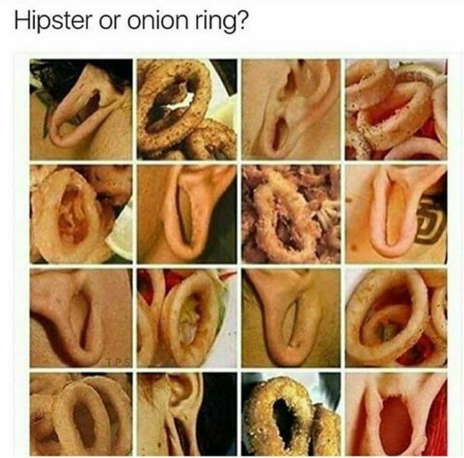 Hipster or Onion Ring