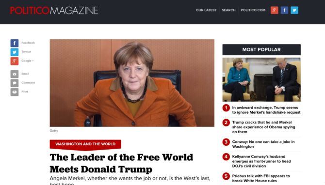 The Leader of the Free World Meets Donald Trump