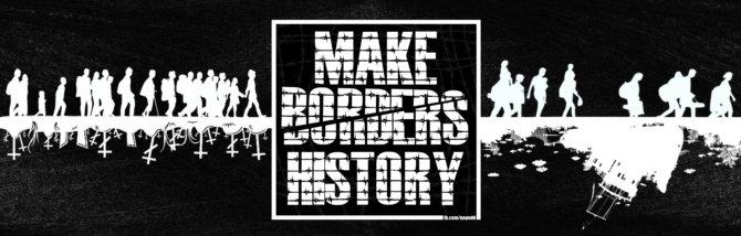 """Platz 10: """"Make Borders History"""" von NOPE"""