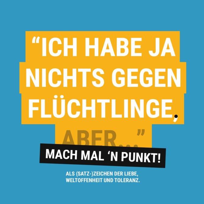 """Platz 4: """"Nichts gegen Flüchtlinge!"""" von Captain Anarchy"""