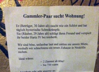 Gammler-Paar sucht Wohnung