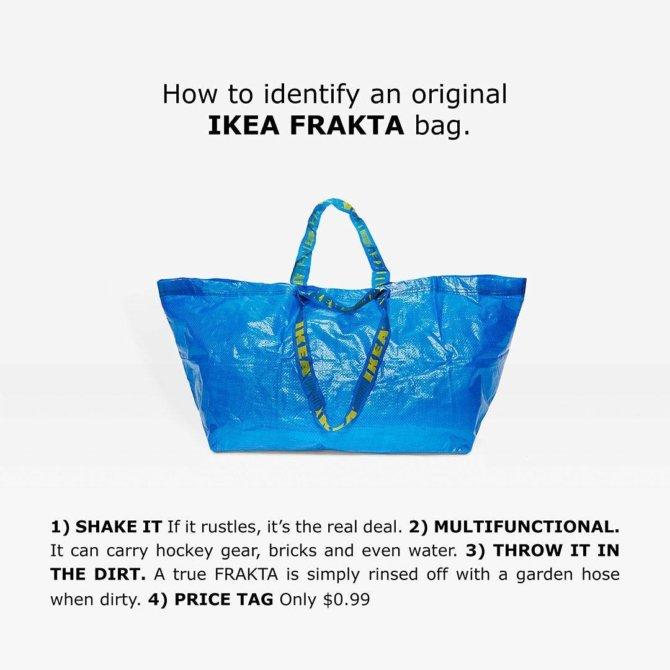 """Die original Tragetasche """"FRAKTA"""" von Ikea"""
