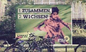 """Wahlplakat-Adbusting: """"Zusammen wichsen"""" mit den Grünen"""