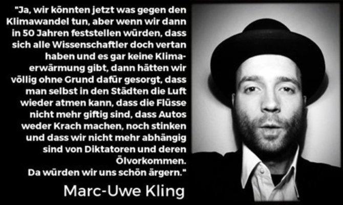 Marc-Uwe Kling zum Klimawandel