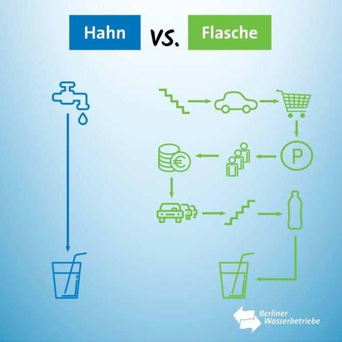 Hahn vs Flasche