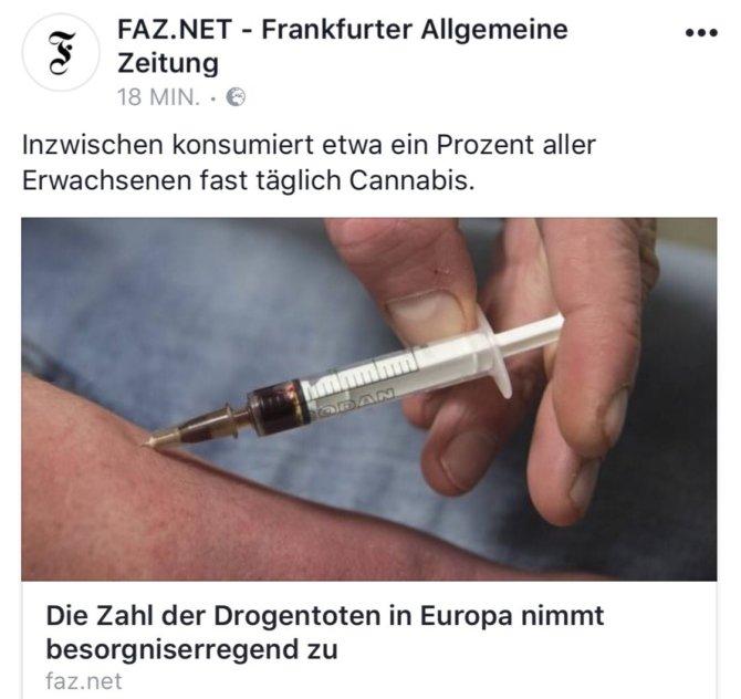 Die Haschisch-Spritzer der FAZ