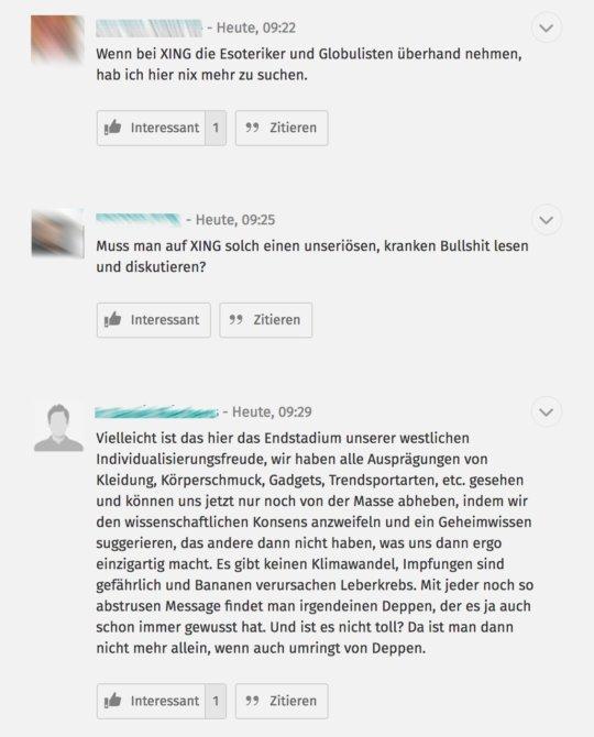 Kommentare zum Debattenbeitrag von Dr. Steffen Rabe auf XING