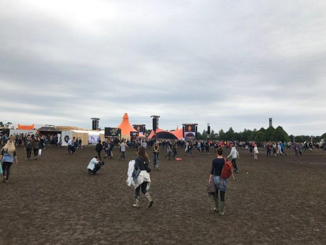 Schlammschlacht auf dem Roskilde Festival
