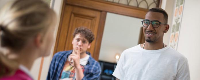 Jerôme Boateng und sein Nachbar Dustin