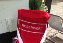 Reserviert Handtuch