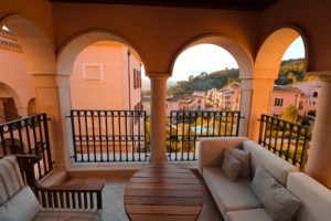 Außenbereich des Zimmers im Park Hyatt Mallorca