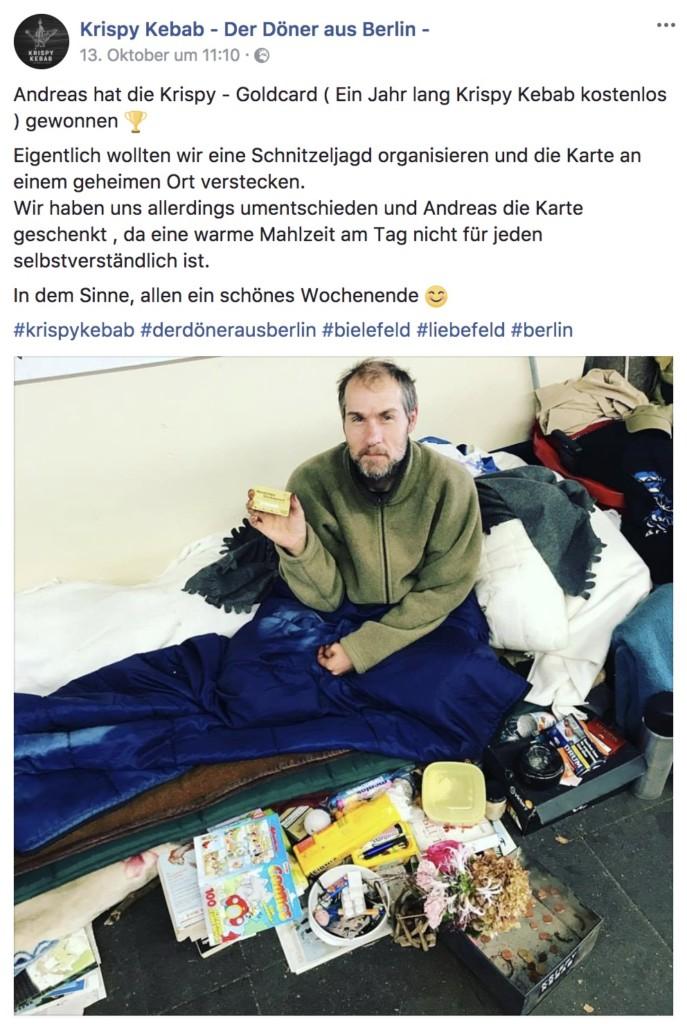 Andreas mit der Krispy Kebab Goldkarte