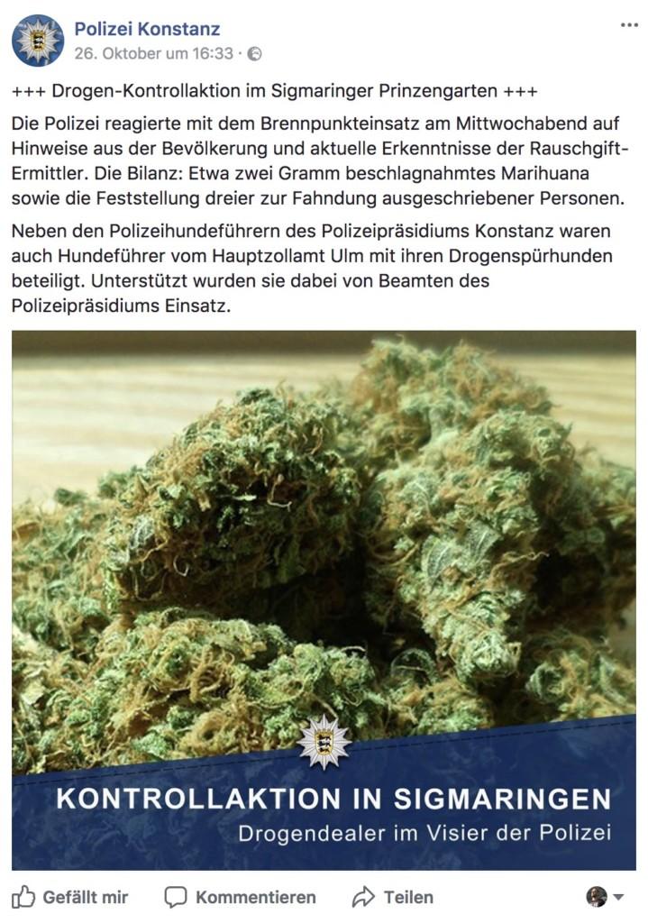 Polizei Konstanz Marihuana
