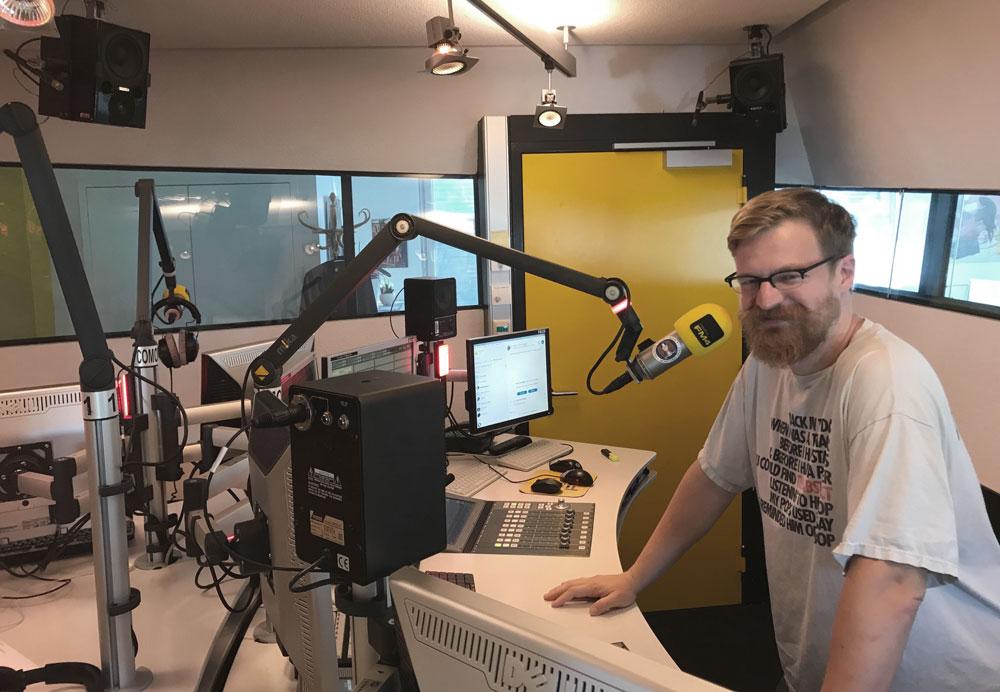 Stefan Trischler aka Trishes im Studio
