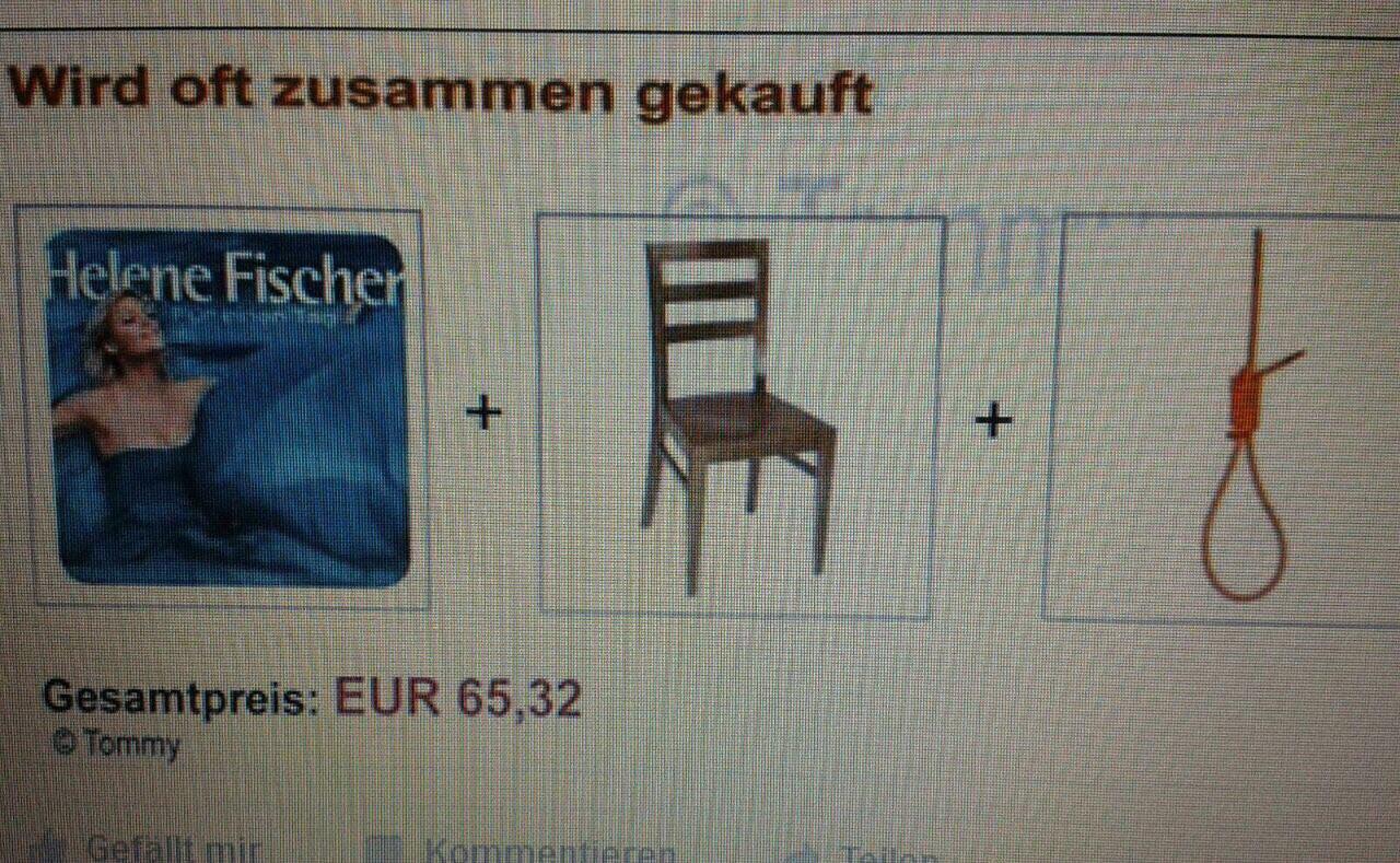 Tweet des Tages: Helene Fischer Cross-Selling