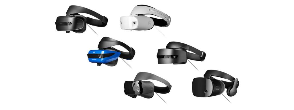 Mixed Reality-Headsets in verschiedensten Designs