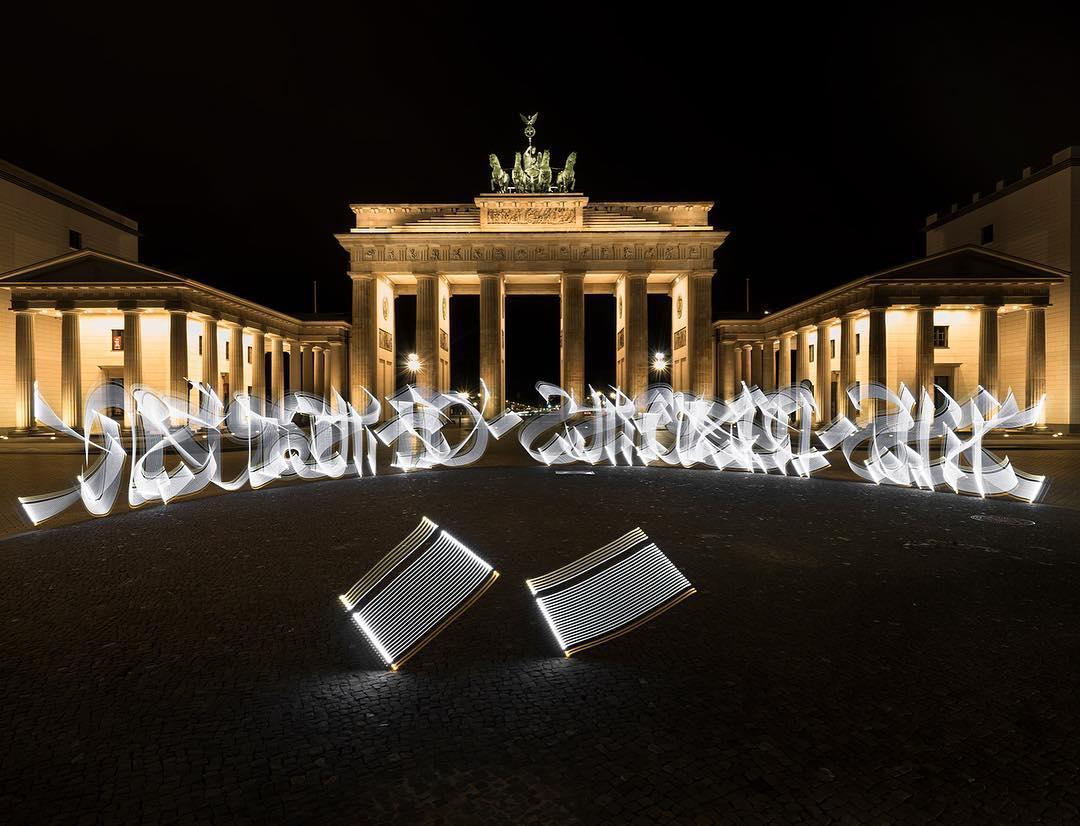 Licht-Graffiti und Kalligrafie von Said Dokins & Leonardo Luna