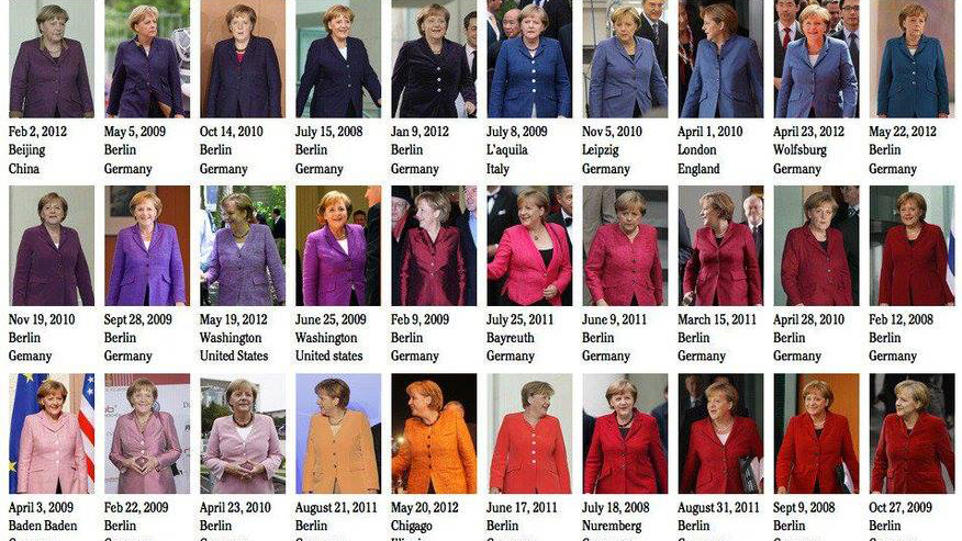 Collage: Pantone Merkel