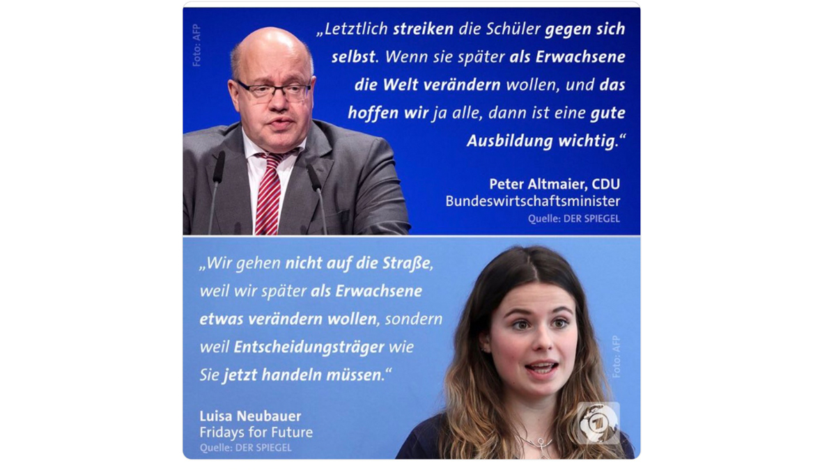 Peter Altmaier vs Schülerin (Tweet des Tages)