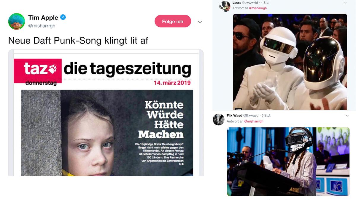 Neue Daft Punk Single feat. Greta (Tweet des Tages)