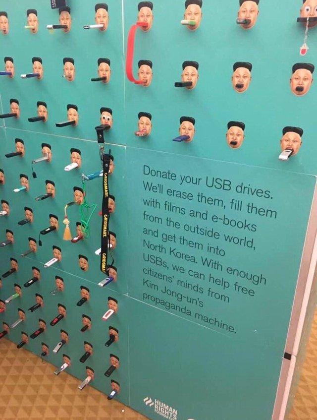 USB-Stick Spende für Nordkorea
