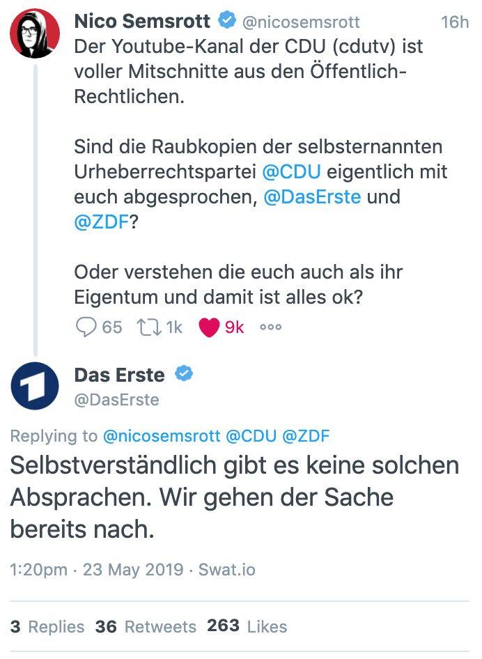 CDU begeht Urheberrechtsverletzungen auf YouTube