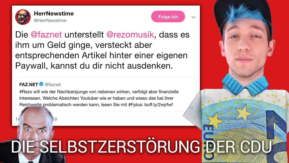 """""""Rezo verfolgt finanzielle Interessen"""" - FAZ """"recherchiert"""" und bittet zur Kasse"""