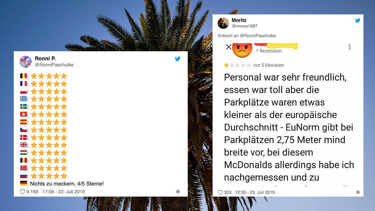 Tweet aus dem Urlaub: Alman Bewertung