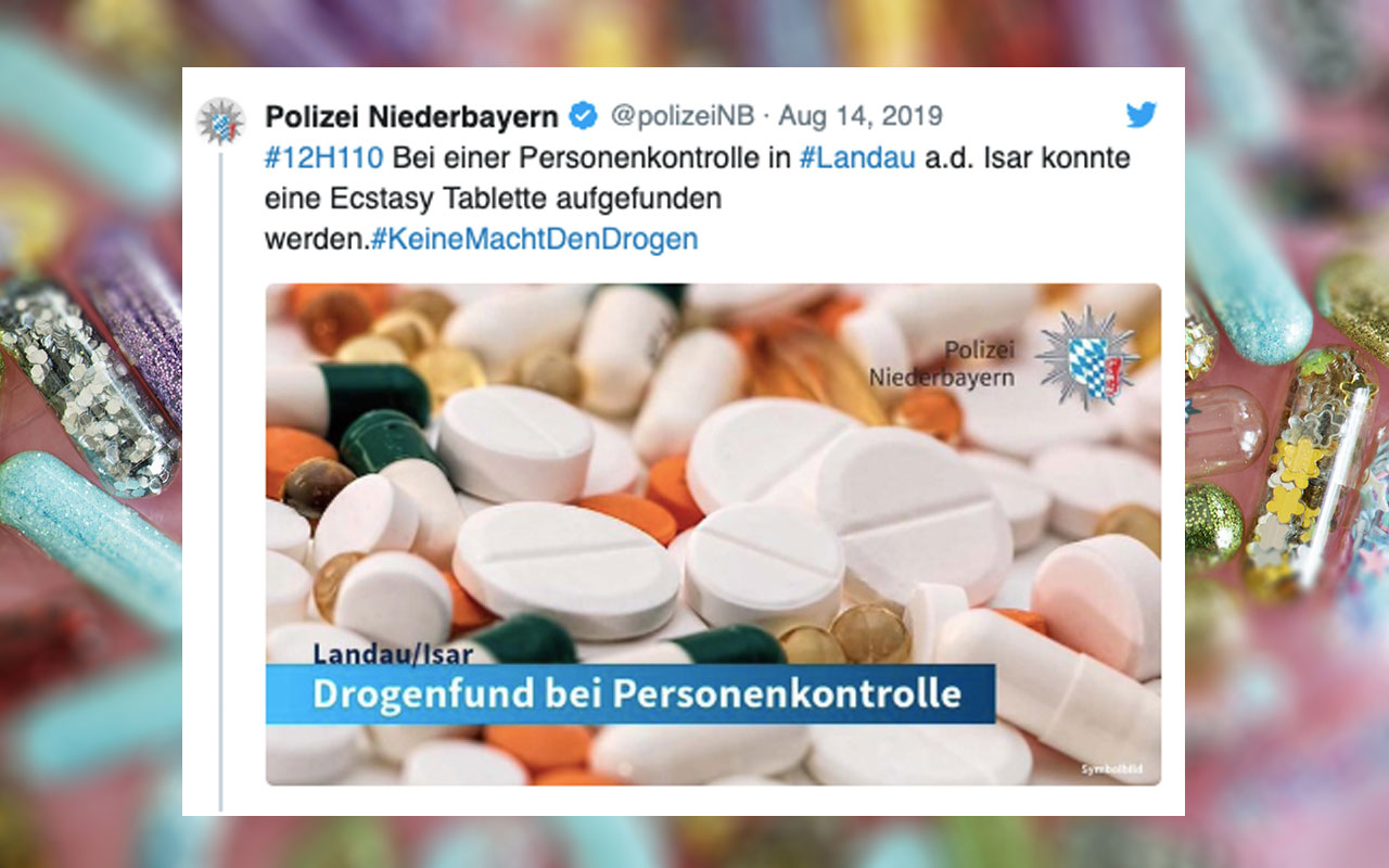 """Riesen-Coup: Polizei stellte EINE """"Ecstasy Tablette"""" sicher"""
