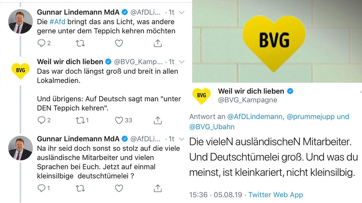 Twitter-Battle: BVG lässt AfD-Mann im Regen stehen