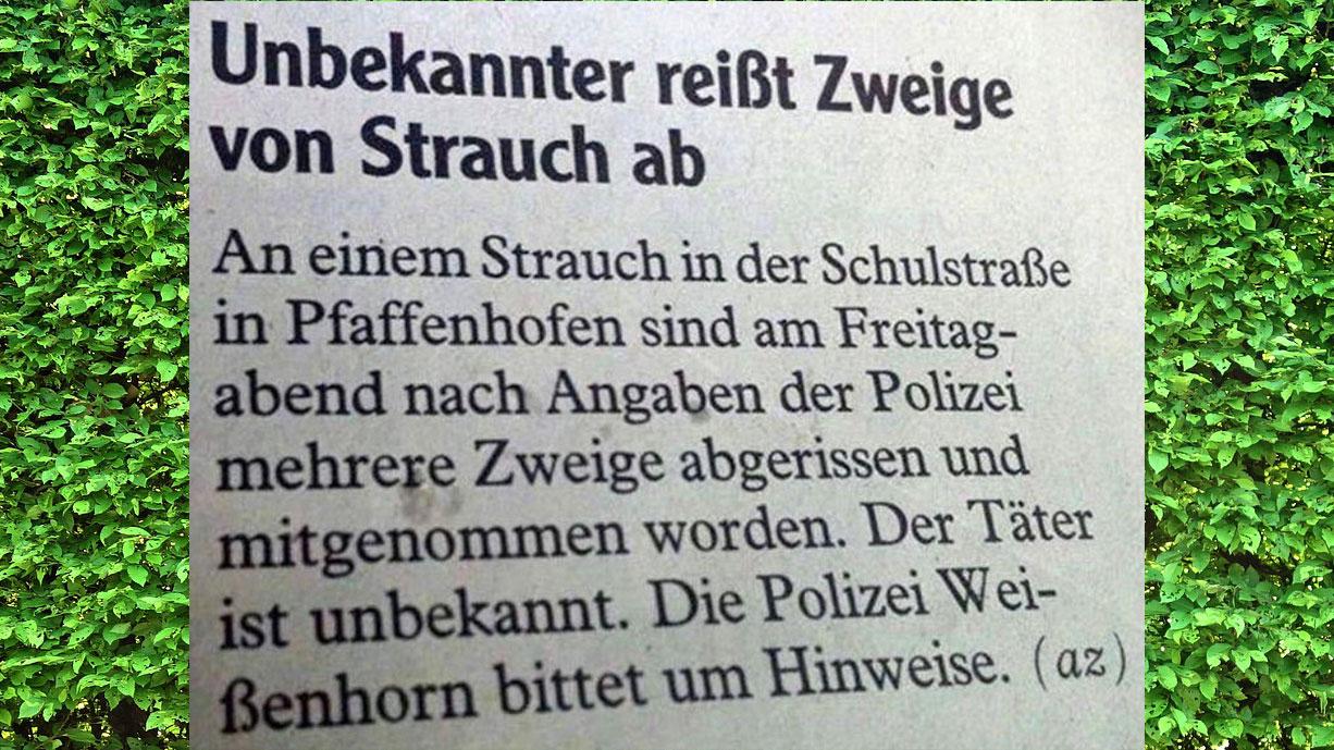 Eskalation in Pfaffenhofen (Perlen des Journalismus)