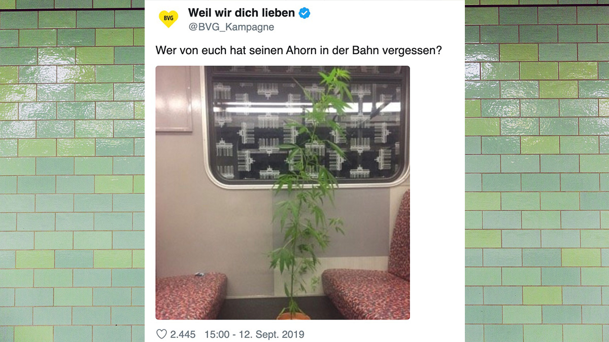 """Tweet des Tages: Der """"Ahorn"""" in der Berliner U-Bahn"""