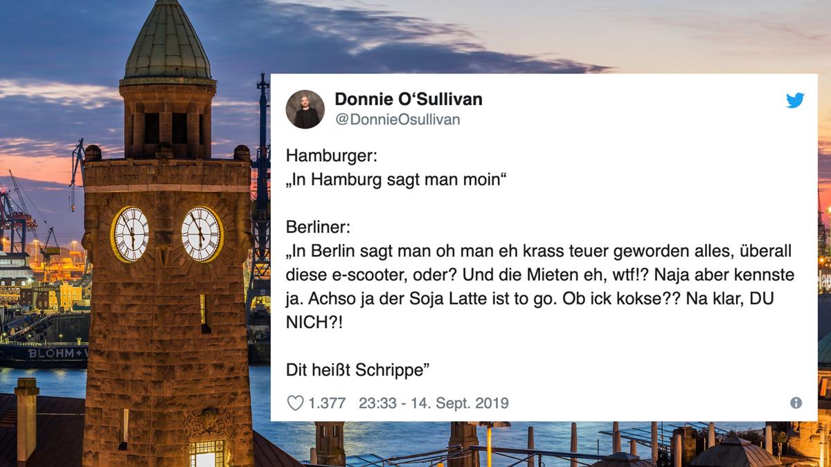 Tweet des Tages: Hamburg vs Berlin